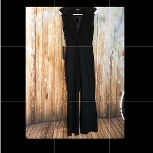 NWT 🔥😮 bebe black imported jumpsuit sz 4 US